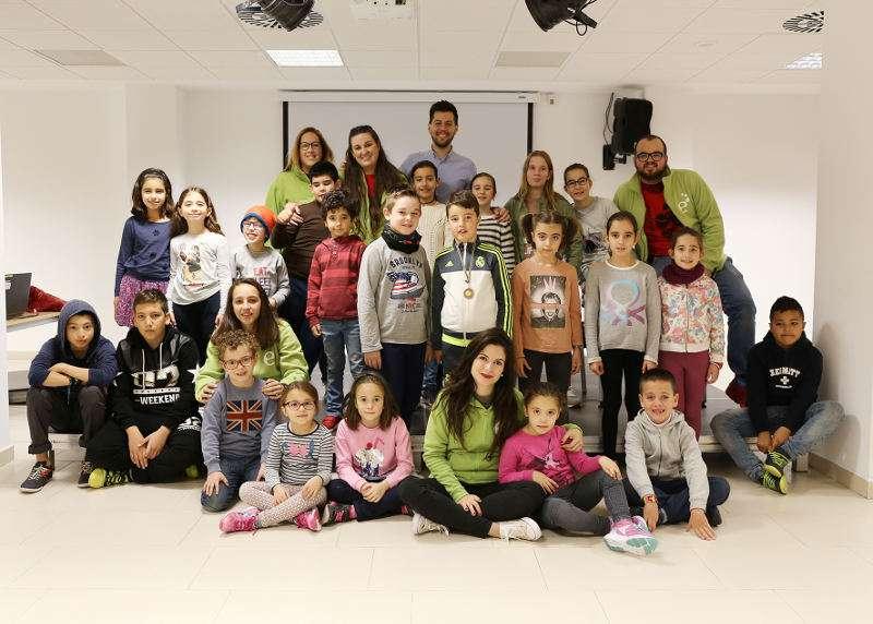 Alumnos de la Escoleta de Nadal de Picassent. EPDA
